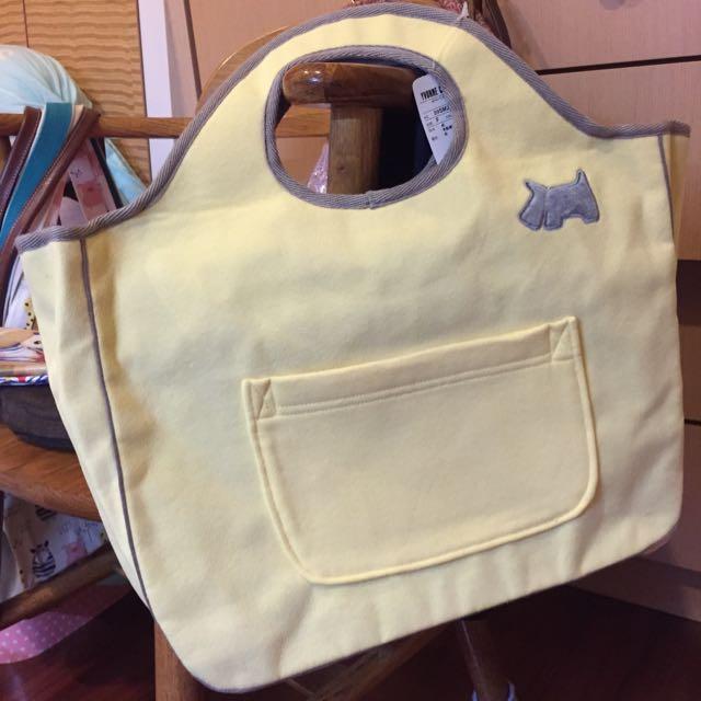 Yvonne 棉質黃色手提包 全新