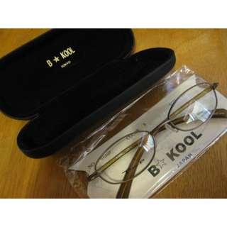 日本原裝B-KOOL限量手工琥珀色鈦合金太陽眼鏡鏡框