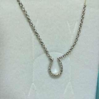 真鑽項鍊~925銀~10k金