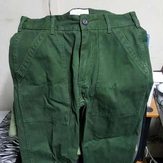 Jack Spade Green Cargo Long Pants