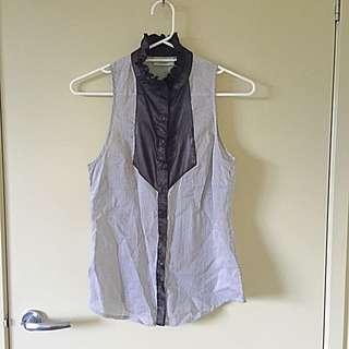 Review Black & White Striped Shirt - Size 10