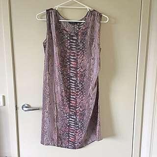 Decuba snake Skin Print Dress - Size 8
