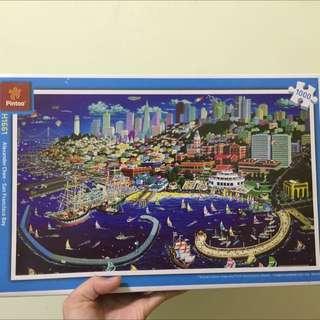 含運 現貨 舊金山灣1000片塑膠拼圖 Alexander Chen