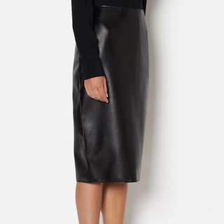 Witchery Leather Look Skirt Size 6 - New