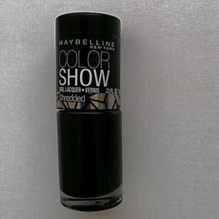 Maybelline Black Shredded Nail Polish