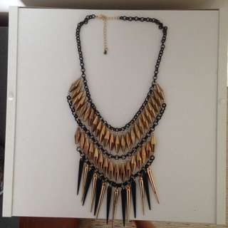 Black And Gold Necklace