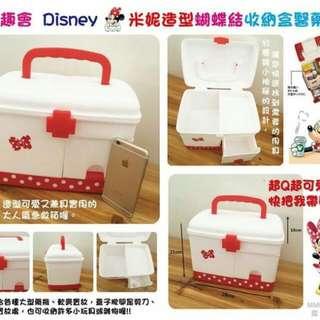 千趣會  Disney 米妮造型蝴蝶結收納盒醫藥箱