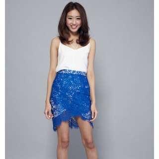 Smooch The Label Natasha Eyelash Skirt (Royal Blue)