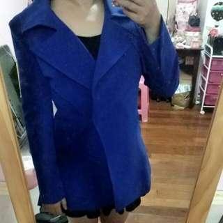 全新!!正韓寶藍色風衣外套