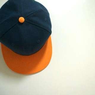 雙色藍橘棒球帽(保留)
