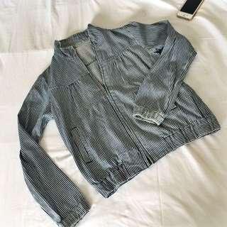 Soft Denim Stripe Jacket