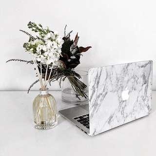 White Marble Skin for Macbooks