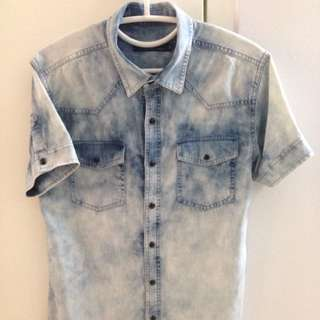 Yishion Tie Dyed Button Up Shirt