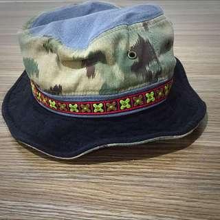 迷彩 民族風 漁夫帽