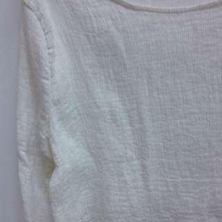 降價)含運百摺紋厚雪紡上衣
