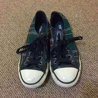 💋 CONVERSE Shoes In Green Pattern