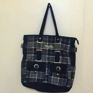 💋INSIGHT Black Checkered Tote