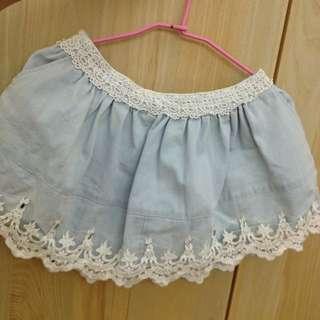 露比午茶·鑽邊褲裙