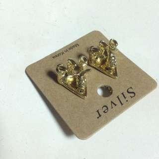 金色獸爪耳環