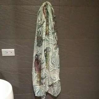 斑馬紋絲巾
