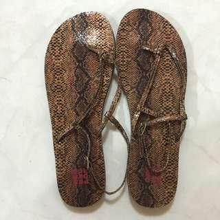 Pedder Red Snakeskin Sandals