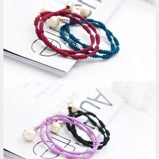 韓國珍珠雙層頭髮圈(全新)