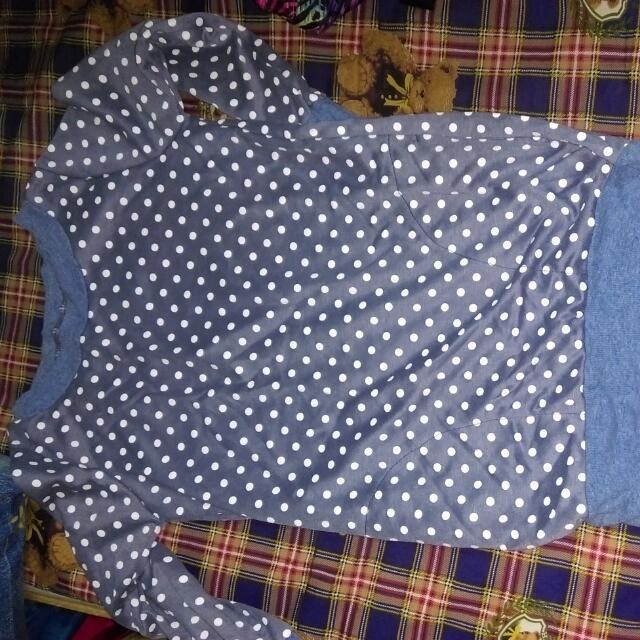 藍色長袖上衣