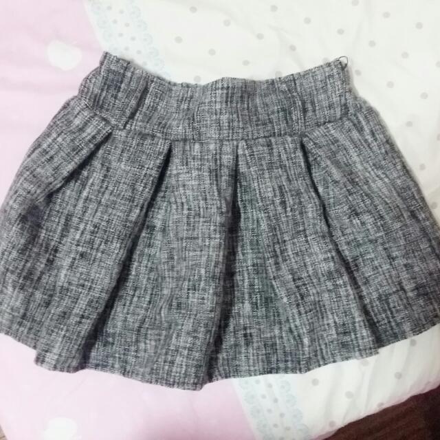 全新!!冬季厚短裙