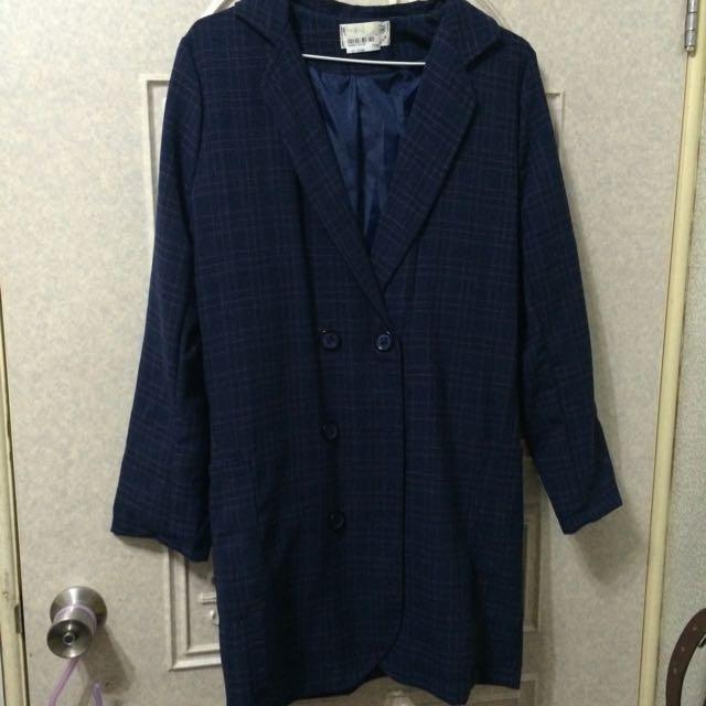 全新藍格西裝外套