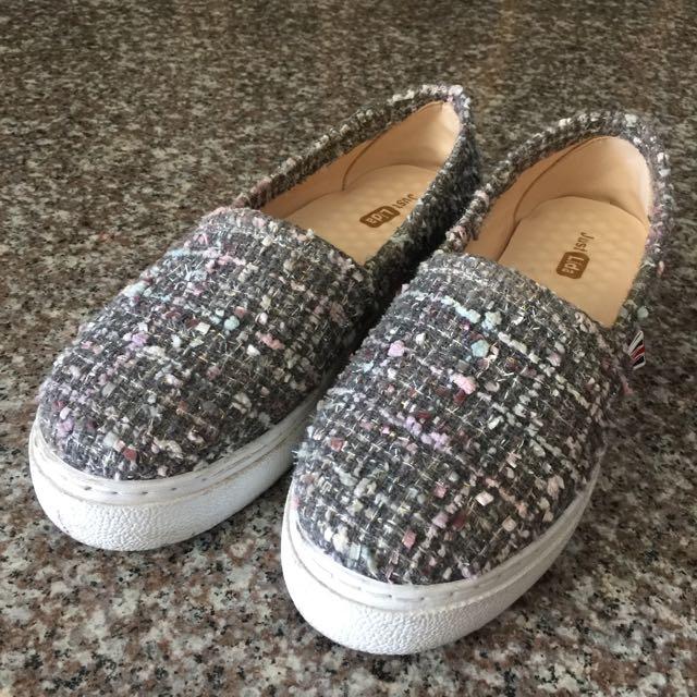 [福]厚底毛呢休閒鞋 40