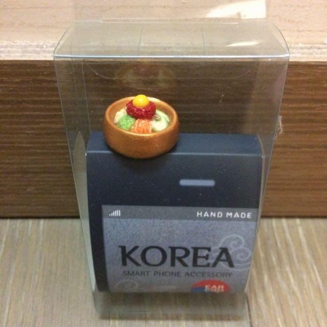 韓國 耳機塞 防塵塞 石鍋拌飯