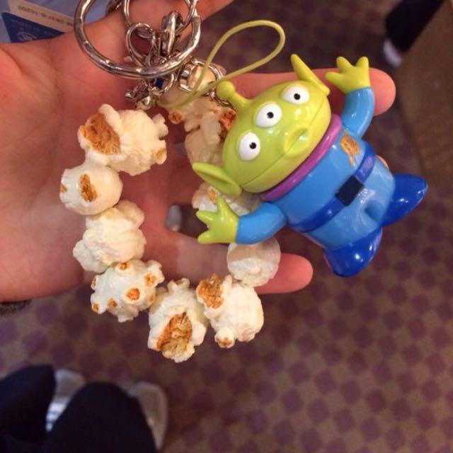 現貨 東京迪士尼 三眼怪 爆米花 鑰匙圈