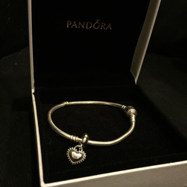 全新 PANDORA 潘朵拉 17cm蛇環&sister吊飾