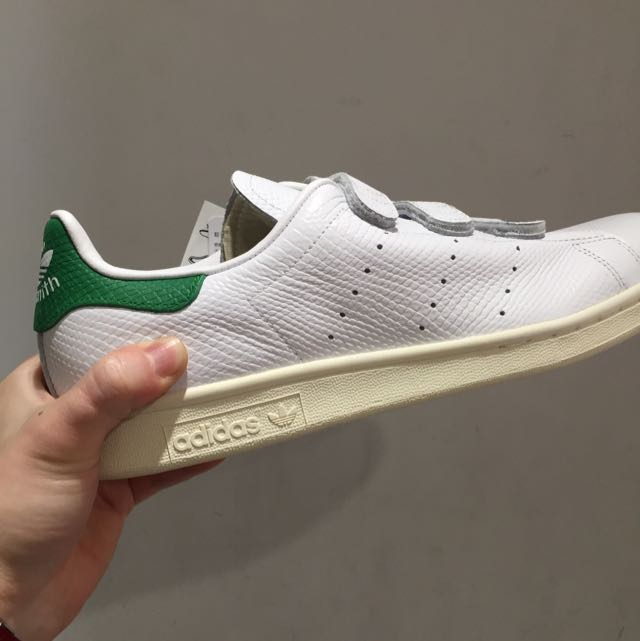 Adidas Stan Smith Cf 白綠 白藍 魔鬼氈