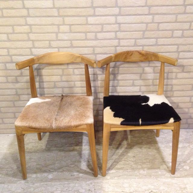 Animal Skin Wooden Dining Chairs (by Galanga Living ...
