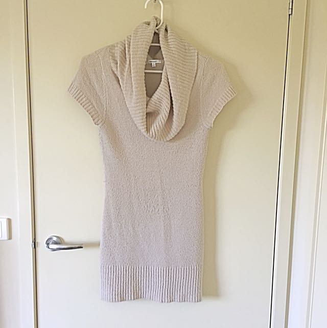 Valley girl Beige Sweater Dress - Size Small