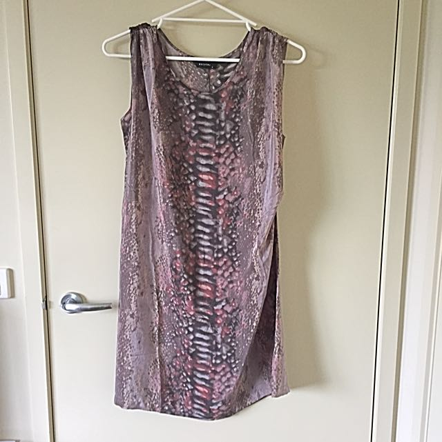 Decuba snake Skin Print Dress - Size 8