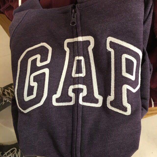 全新真品GAP刷毛連帽外套女款
