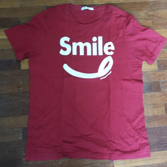 Giordano Red  'Smile' Tshirt
