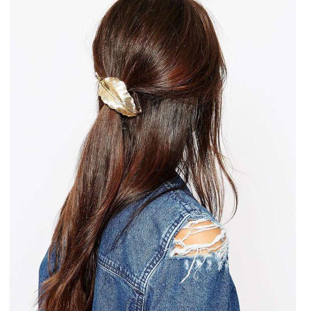 ◆Hasna◆立體金色葉子造型頭飾髮圈