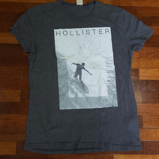 Hollister Grey Graphic Tee