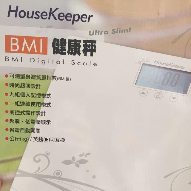 (保留中)housekeeper 超薄型。體重計。BMI