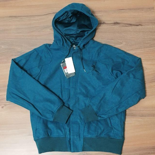 (保留中)Jordan 藍綠色 連帽 厚 外套