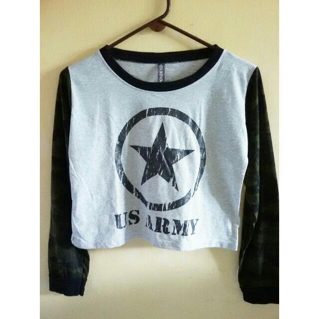 [REDUCED!!] Long Sleeves Cropped Top