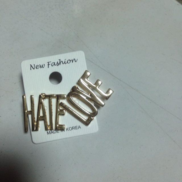 Love Hate耳環