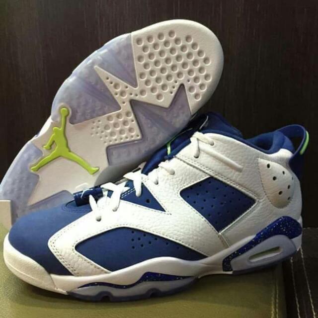 Nike Air Jordan6 AJ6 RETRO LOW GHOST GREEN 雪碧 Soda女神著用