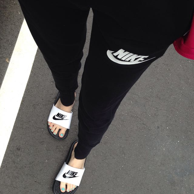 Nike縮口棉褲 女版S