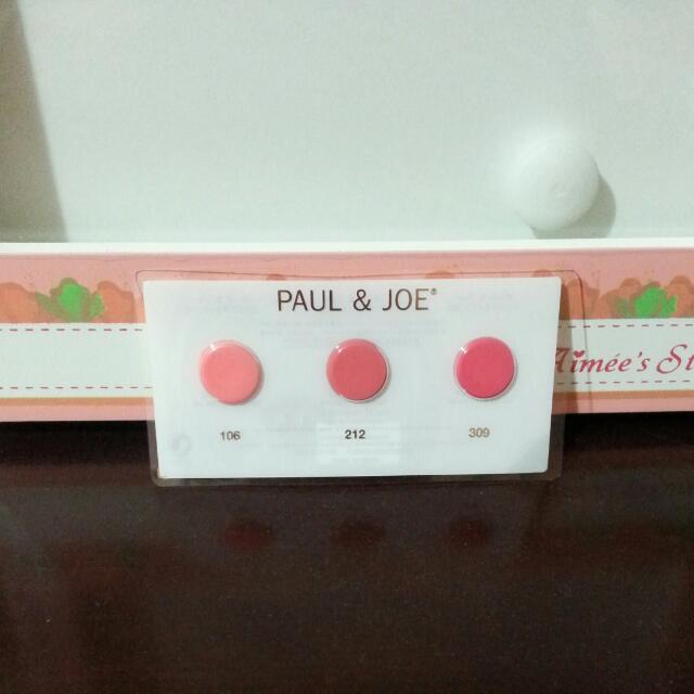 Paul&joe 巴黎訂製唇膏3色體驗卡(口紅)