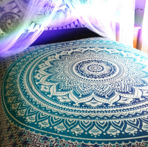 (PRICE REDUCED - INSTOCK) Hippie Blue Ombre Mandala