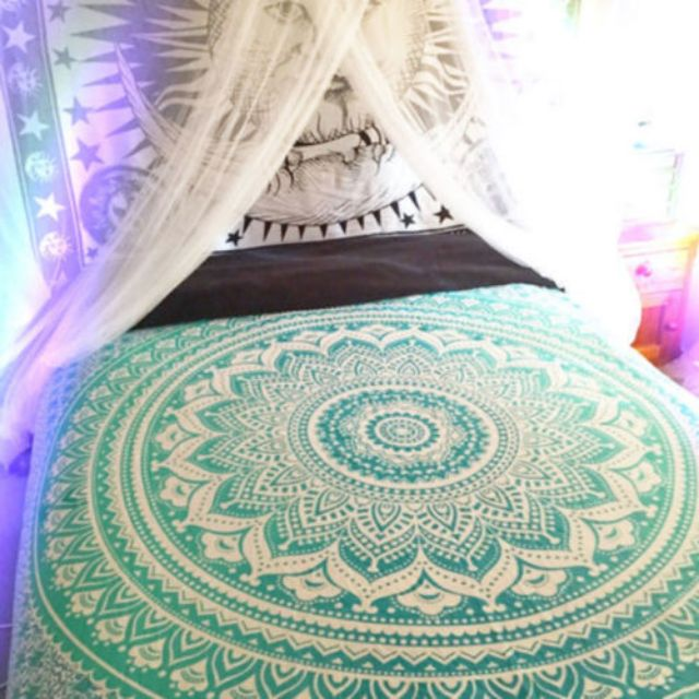 (PO) Turquoise  Hippie Mandala Tapestry